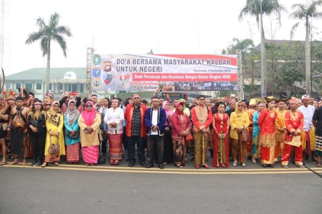 Foto: Doa Bersama dari Kalbar untuk Indonesia (58665)