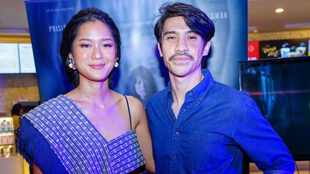 Artis Prisia Nasution bersama suaminya Iedil Putra