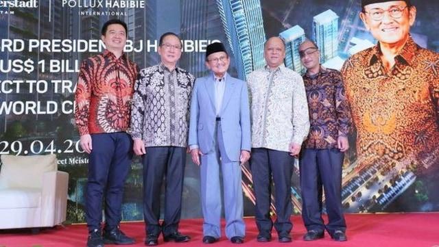 BJ Habibie, Peresmian apartemen Erlessen Tower, Batam
