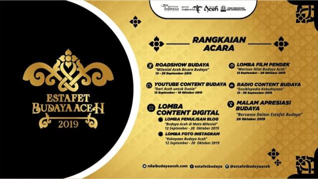 Besok, Disbudpar Launching Estafet Budaya Aceh 2019