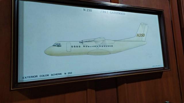 BJ Habibie Meninggal, Desain pesawat N250 karya Habibie