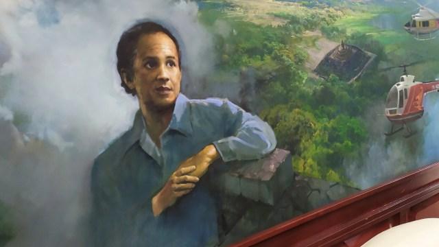 Lukisan potret BJ Habibie karya Basuki Abdullah yang dipajang di Kantor PT Dirgantara Indonesia