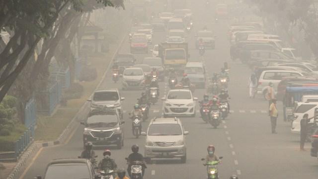 Kabut asap di Pekanbaru, kebekaran hutan dan lahan