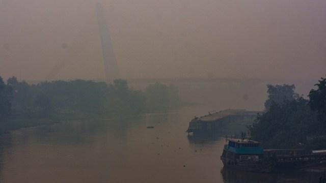 Kabut asap, kebekaran hutan dan lahan, Pekanbaru, Riau