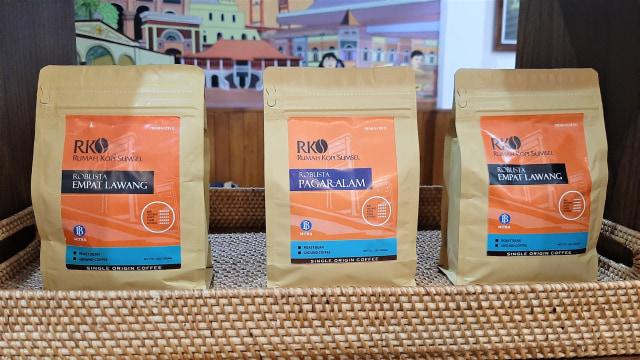 Jenis kopi di Rumah Kopi Sumsel (RKS), Palembang