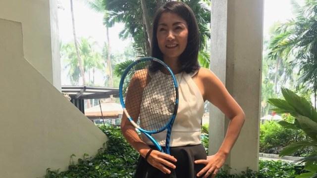 Mantan atlet tenis Wynne Prakusya