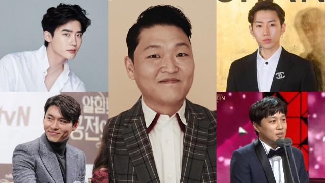 PSY, Lee Jong Suk, Jay Park, Cha Tae Hyun, dan Hyun Bin