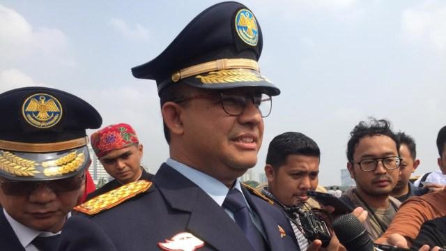 Gubernur DKI Anies Baswedan di Monas, Jakarta