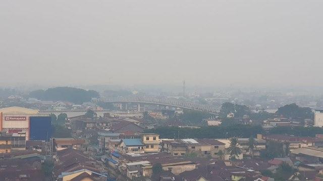 Foto: Kondisi Terkini Kabut Asap di Pontianak, Kalimantan Barat (287982)