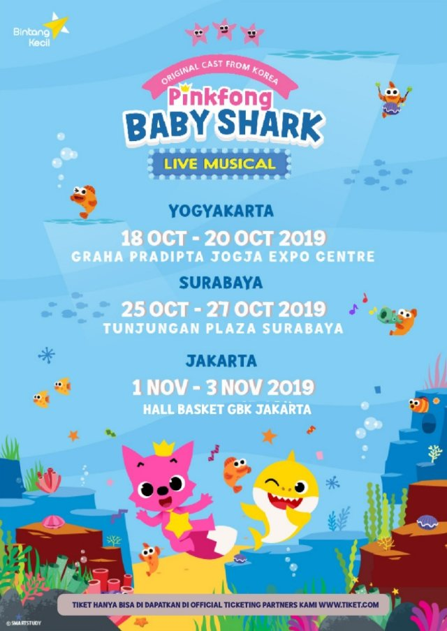 Siap-siap! Pinkfong 'Baby Shark' Live Musical akan Hadir di Indonesia (137921)