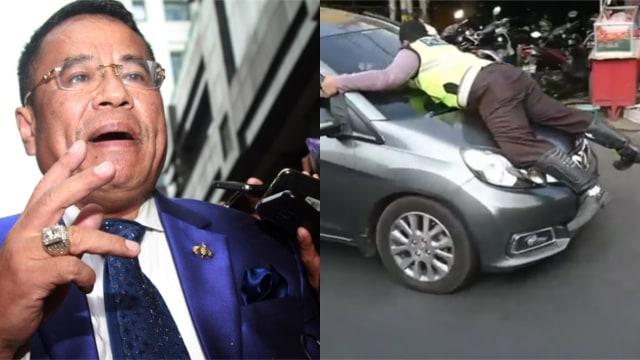 Dukungan Hotman Paris untuk Briptu Eka yang Naik Kap Mobil Pelanggar (23790)
