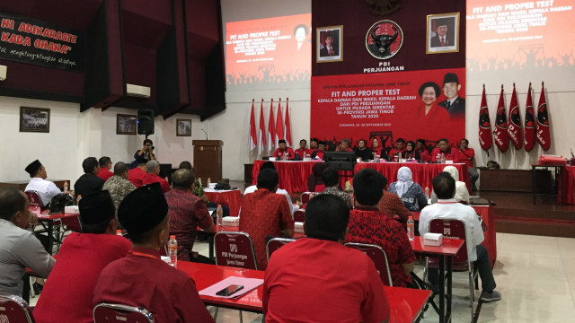 PDIP gelar fit and proper test calon kepala daerah  Se-Jatim