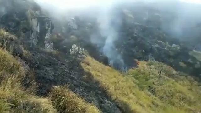 Video: Kebakaran Hutan di Lereng Gunung Slamet Masih Belum Padam (116102)
