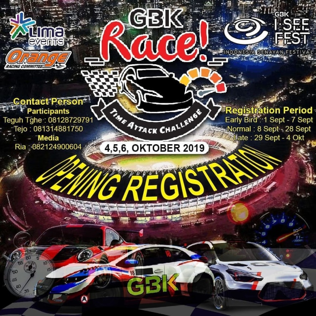 "Ajang balap mobil bertajuk ""GBK Race"""