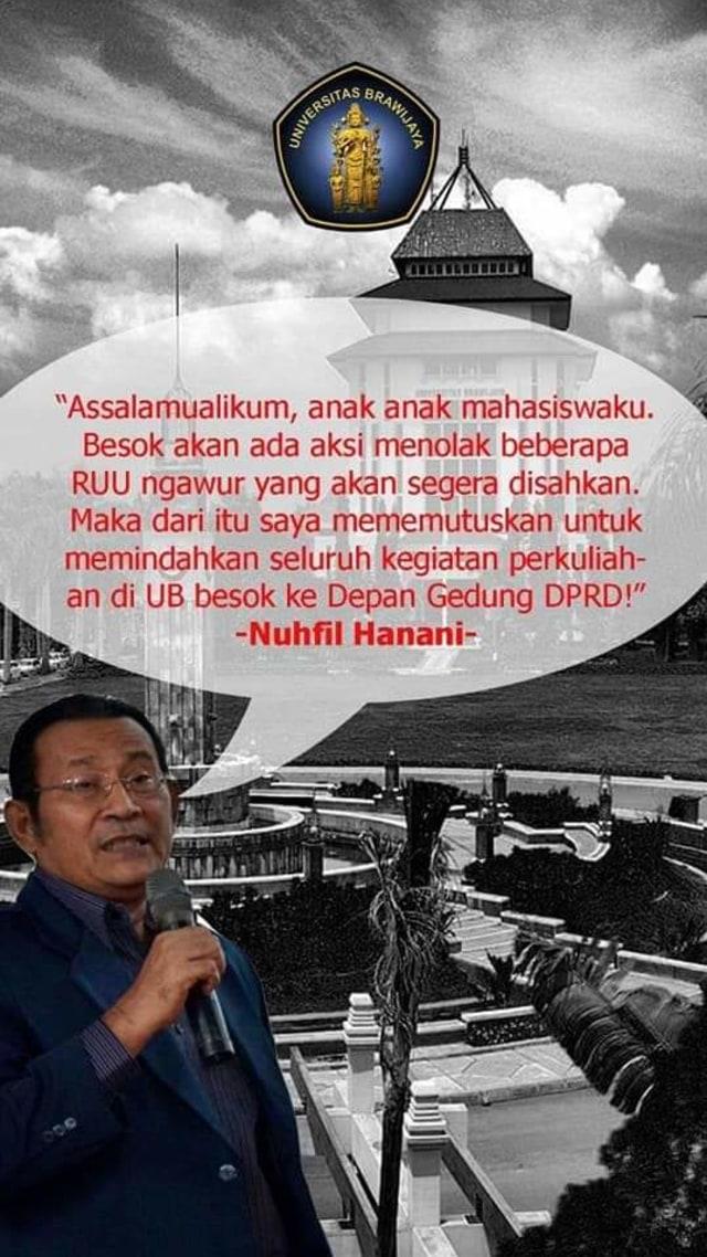 Ada Ajakan Demo di DPRD Kota Malang, Rektor UB: Fitnah  (1237561)
