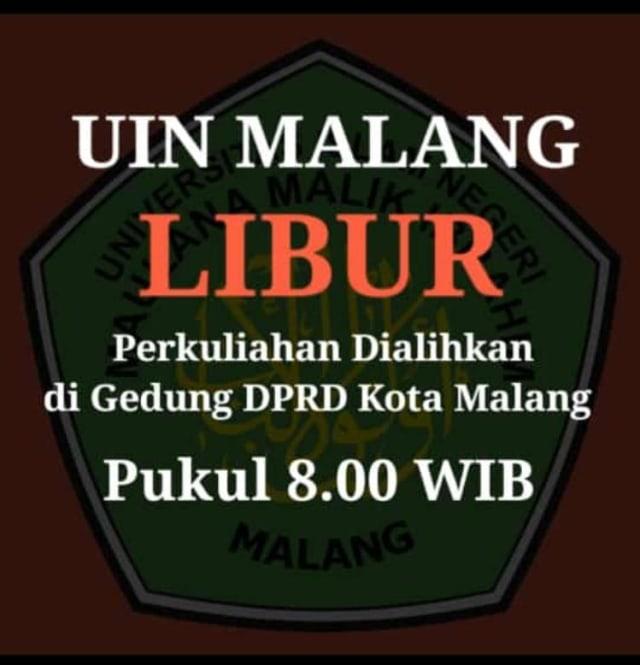 Ada Ajakan Demo di DPRD Kota Malang, Rektor UB: Fitnah  (1237562)