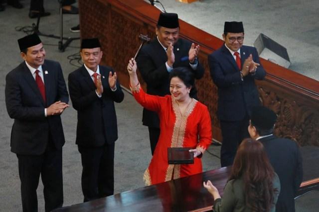 Hasil gambar untuk foto pidato puan maharani