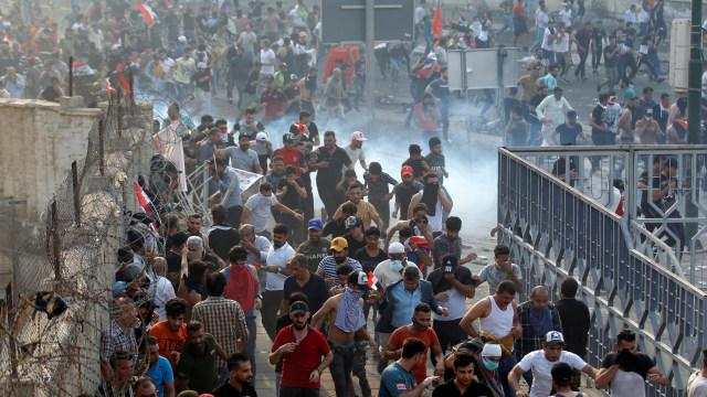 Aksi demonstrasi di Baghdad, Irak