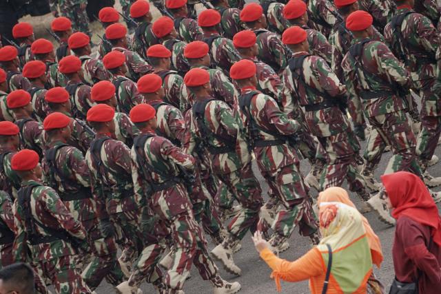 Gladi HUT 74 TNI, prajurit TNI, Lanud Halim Perdanakusuma