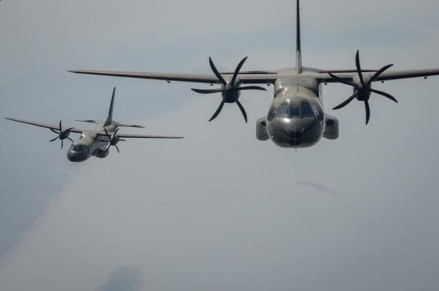 Gladi HUT 74 TNI, Lanud Halim Perdanakusuma, Pesawat CN 295, Sembrani Flight Skadron Udara 2 Halim Perdanakusuma