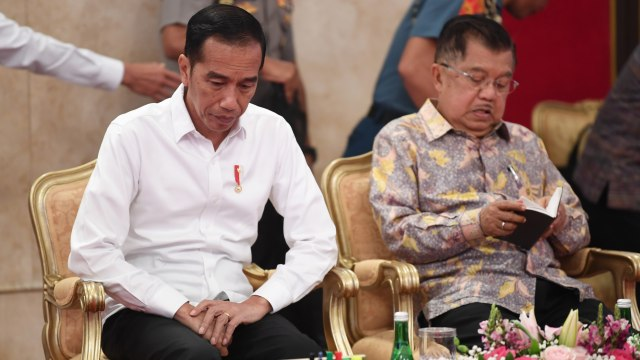Sidang Kabinet Paripurna di Istana Negara, Jokowi dan JK