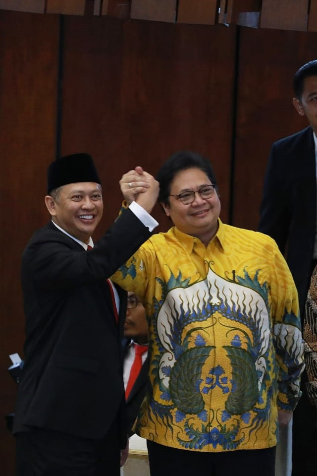 Sidang Paripurna MPR, Airlangga Hartarto, Bambang Soesatyo (NOT COVER)