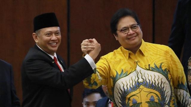 Sidang Paripurna MPR, Airlangga Hartarto, Bambang Soesatyo