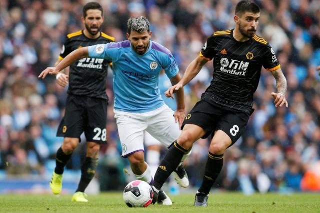 Manchester City melawan Wolverhampton Wanderers di Stadium Etihad, Manchester, Inggris