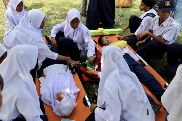 Kala Siswa Aceh Siaga Bencana, Bersiap Diri di Tanah Tsunami (10117)