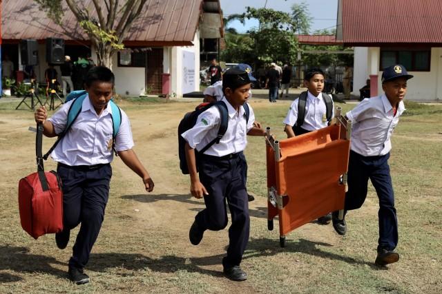Foto: Siswa di Daerah Bekas Tsunami Aceh, Belajar Siaga Bencana (2651)