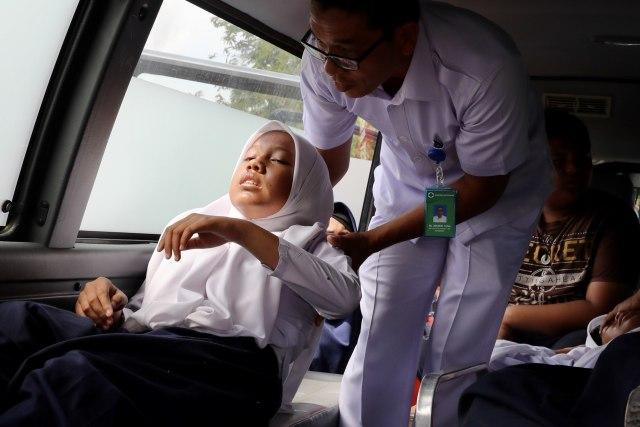 Foto: Siswa di Daerah Bekas Tsunami Aceh, Belajar Siaga Bencana (2660)