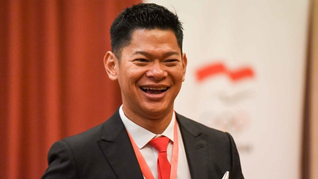 Ketua Umum Komite Olimpiade Indonesia (KOI) terpilih periode 2019-2023 Raja Sapta Oktohari