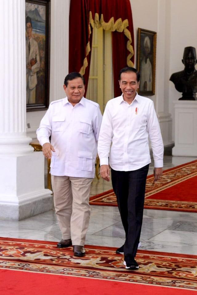 Prabowo dan Jokowi bertemu di ruang Jepara, Istana Merdeka, Jakarta