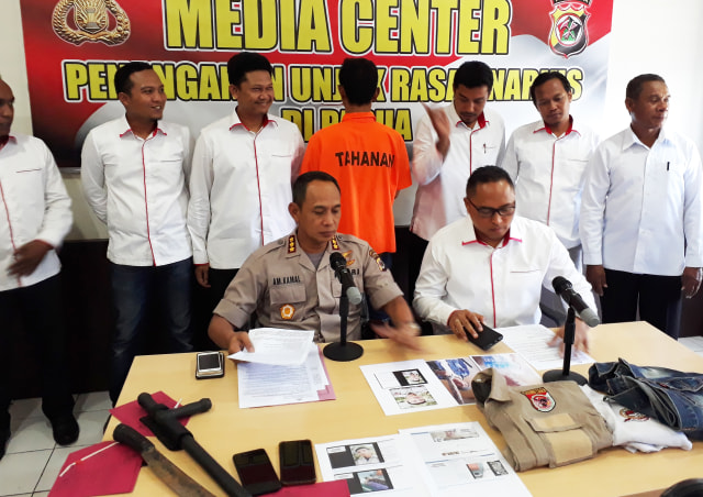 Keterangan pers di Media Center Polda Papua soal ujaran kebencian-Foto Liza.jpg