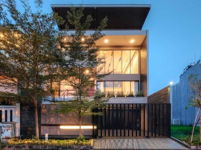Melihat 8 Inspirasi Desain Eksterior Rumah Minimalis Kumparan Com