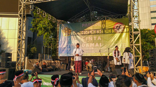 Peringatan hari santri nasional di Jalan MH Thamrin
