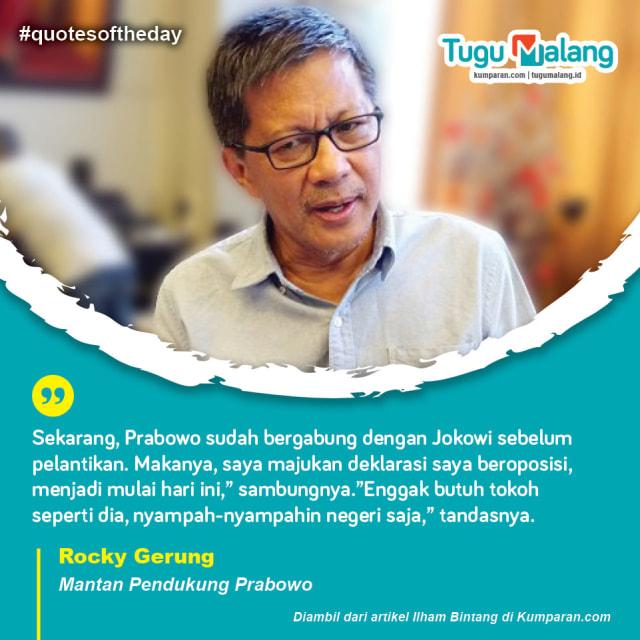 Krispi: Komentar Rocky Gerung yang Tak Lagi Sejalan dengan Prabowo  (25210)