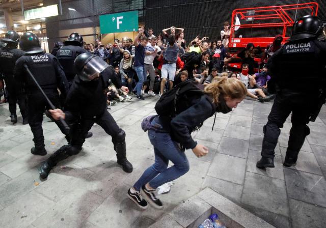 Bentrokan di Catalunya, Barcelona, Spanyol