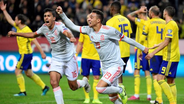Tahan Imbang Swedia, Spanyol Lolos ke Piala Eropa 2020 (241970)