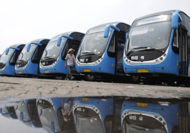 Bus Transjakarta Zhongtong, Depo PPD F Klender, Jakarta Timur