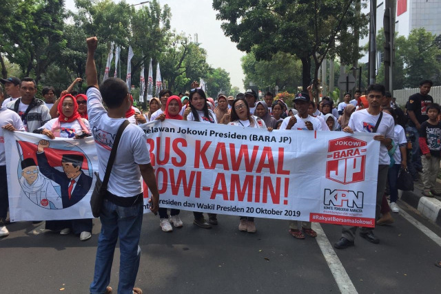 Beda Cara Relawan Rayakan Pelantikan Jokowi di 2014 dan 2019 (47270)