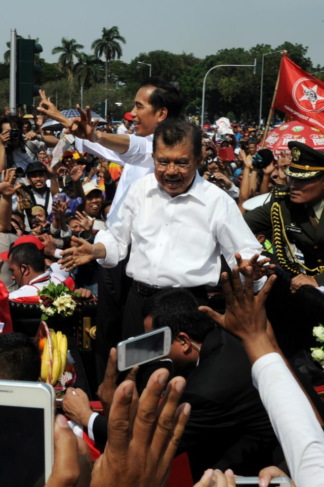 Beda Cara Relawan Rayakan Pelantikan Jokowi di 2014 dan 2019 (47274)