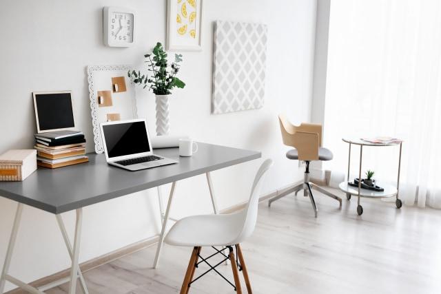 dekorasi, meja kerja