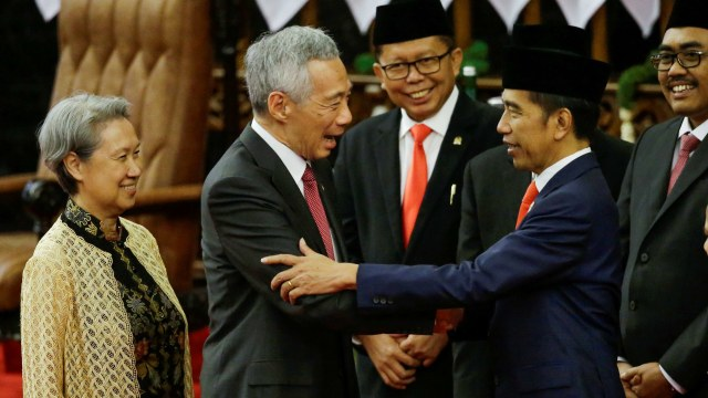 Pelantikan Presiden 2019, Jokowi dan Lee Hsien Loong