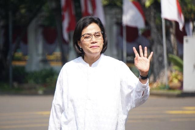 Sri Mulyani tiba di Kompleks Istana Kepresidenan