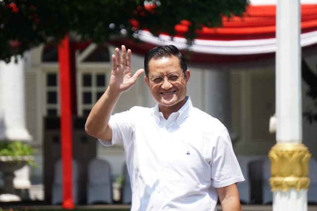 Juliari P. Batubara tiba di Kompleks Istana Kepresidenan
