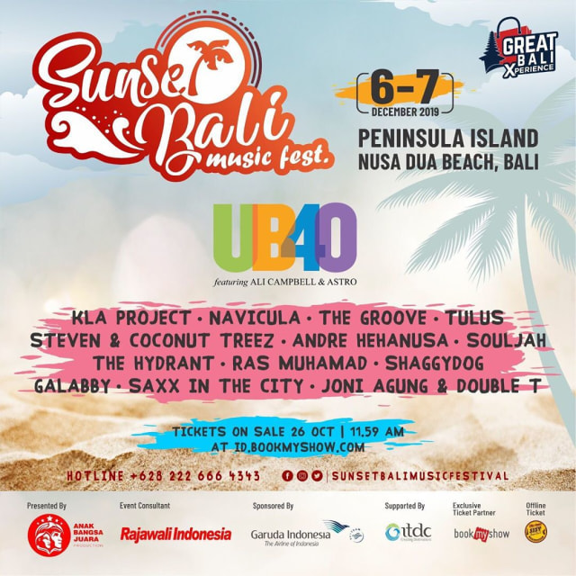 Sunset Bali Music Festival Hadirkan Band Reggae Legendaris UB40 (530541)
