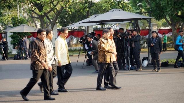 Jelang Pelantikan, Prabowo, Erick, Mahfud hingga Luhut Tiba di Istana (64859)