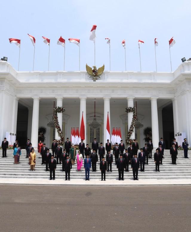 Kabinet Indonesia Maju, Foto Bersama, POTRAIT