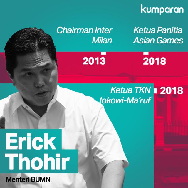 Pernah Menolak Jadi Menteri, Erick Thohir Akhirnya Masuk Kabinet (63531)